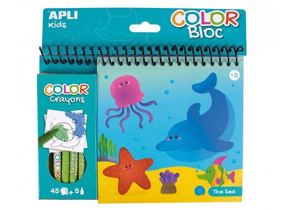 Color Bloc Mare e Mezzi di trasporto - Apli Kids