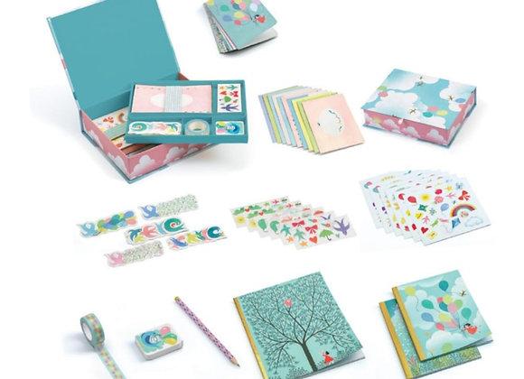 Set cartoleria - Djeco, Charlotte box set