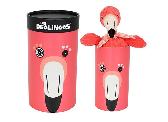 Peluche fenicottero in box - Les Deglingos