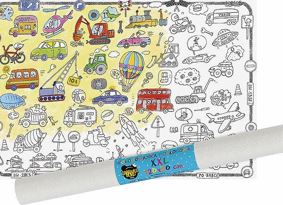 Poster veicoli da colorare - Monumi