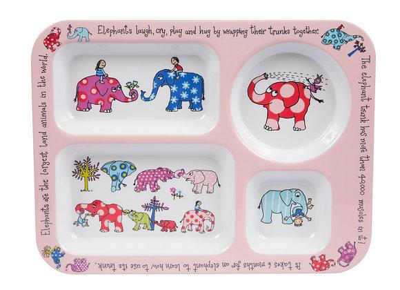 Vassoio con scomparti elefanti - Tyrell -