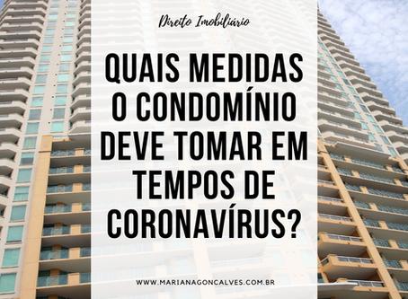 Quais medidas o condomínio deve tomar em tempos de coronavírus?