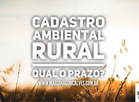 Cadastro Ambiental Rural e sua averbação. Qual o meu prazo?