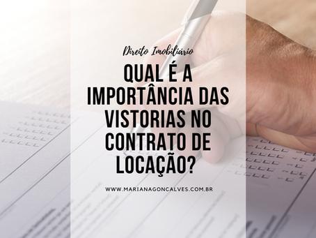 Qual é a importância das vistorias no contrato de locação?