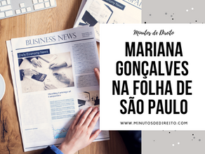 Mariana Gonçalves na Folha de São Paulo