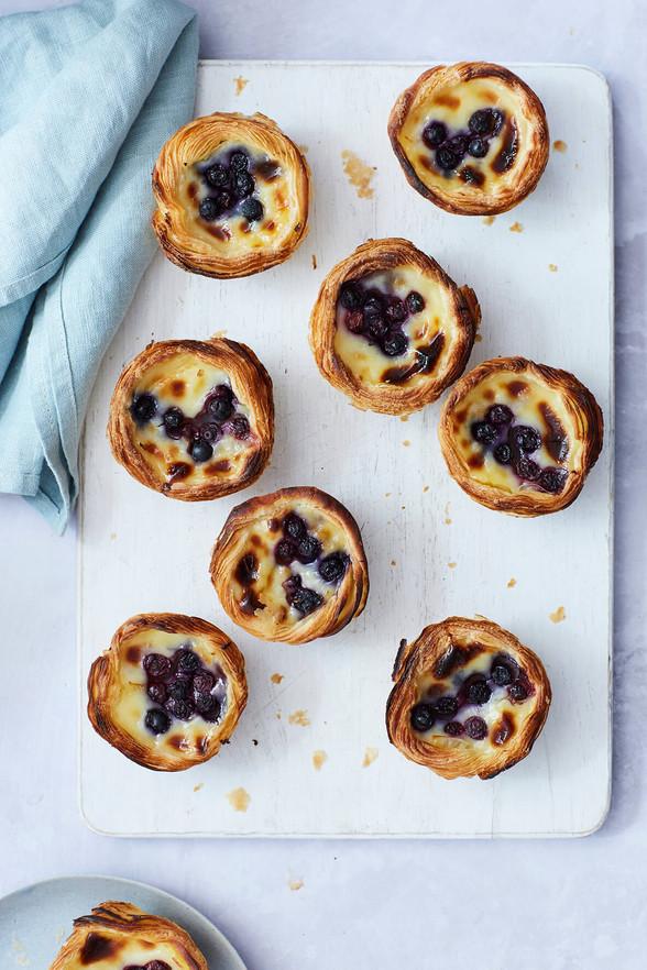 Blueberry Pastel de Nata