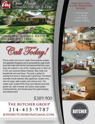 Featured Listing: 10540 Mapleridge Drive, Dallas, TX 75238