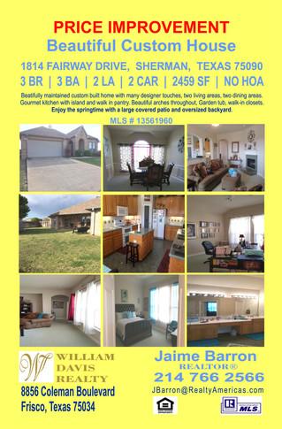 Featured Listing: 1814 Fairway Drive, Sherman, TX 75090