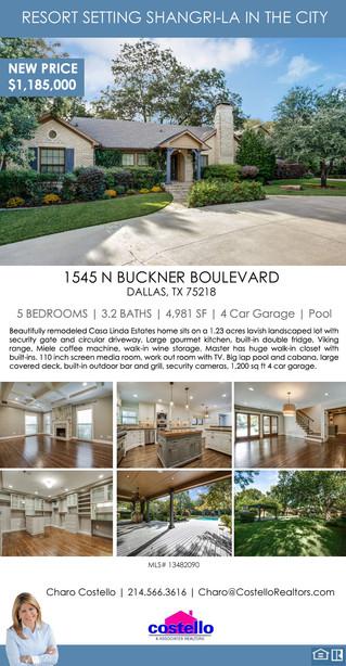 Featured Listing: 1545 N Buckner Boulevard, Dallas, TX 75218