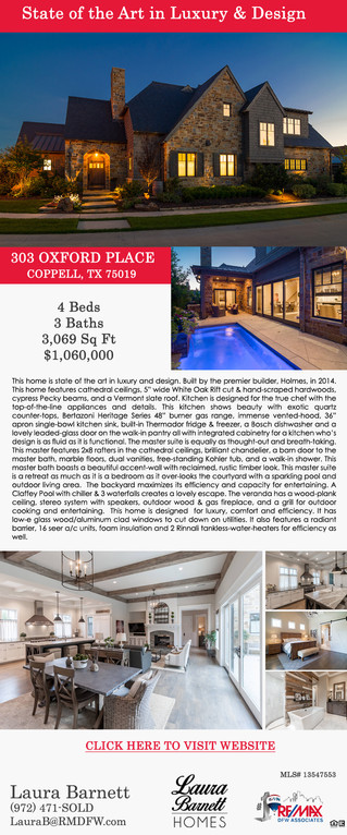 Featured Listing: 303 Oxford Place, Coppell, TX 75019