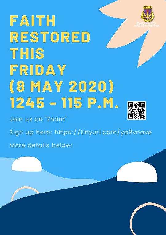 MWTI Faith Restored Poster (8 May 2020).