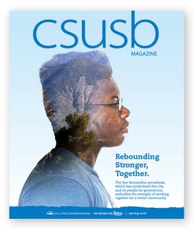 CSUSB Magazine, Spring 2018 (cover)