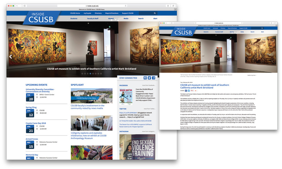 Inside CSUSB (website)
