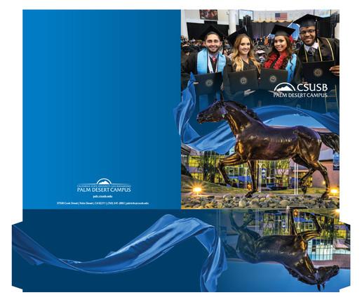 CSUSB Palm Desert Campus Recruitment Folders (detail)