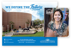 CSUSB Palm Desert Campus Recruitment Brochure (poster and cover)