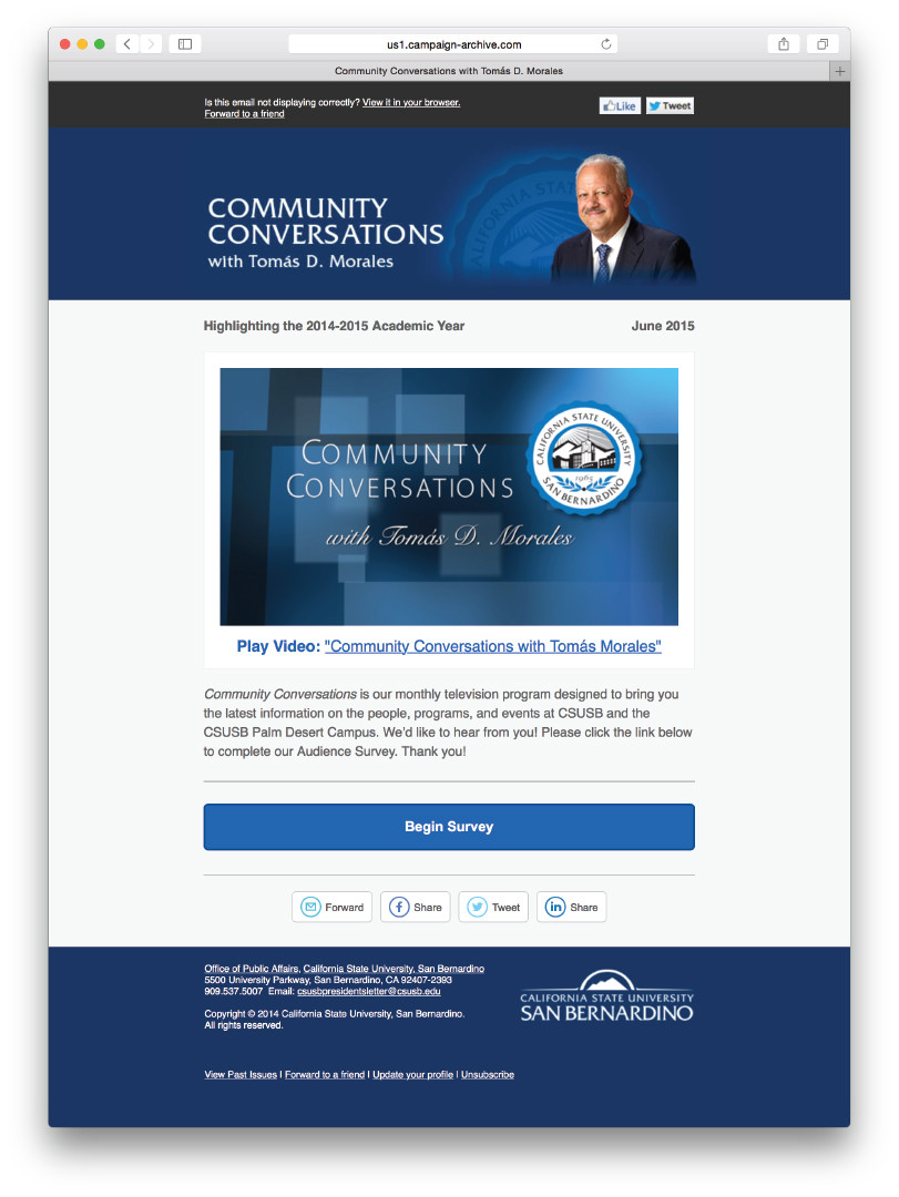 Community Conversations with Tomas D. Morales (Email)