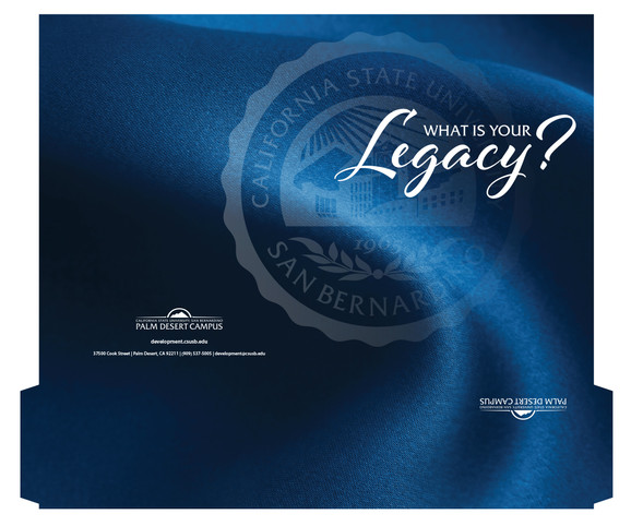 CSUSB Legacy (Planned Giving) Package (detail)