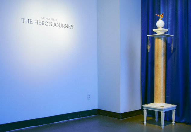The Hero's Journey (TItle wall), 2015.