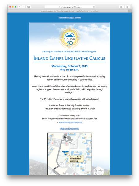 Inland Empire Legislative Caucus Invitation (Email)
