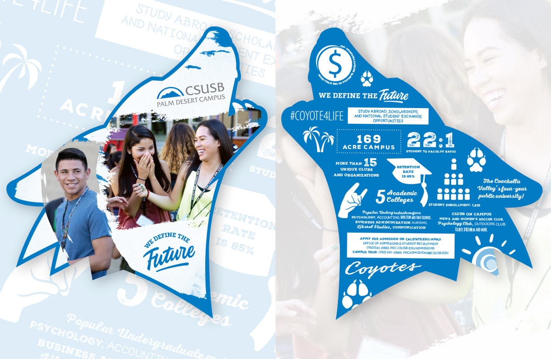 CSUSB Palm Desert Campus Pennant (front and back)
