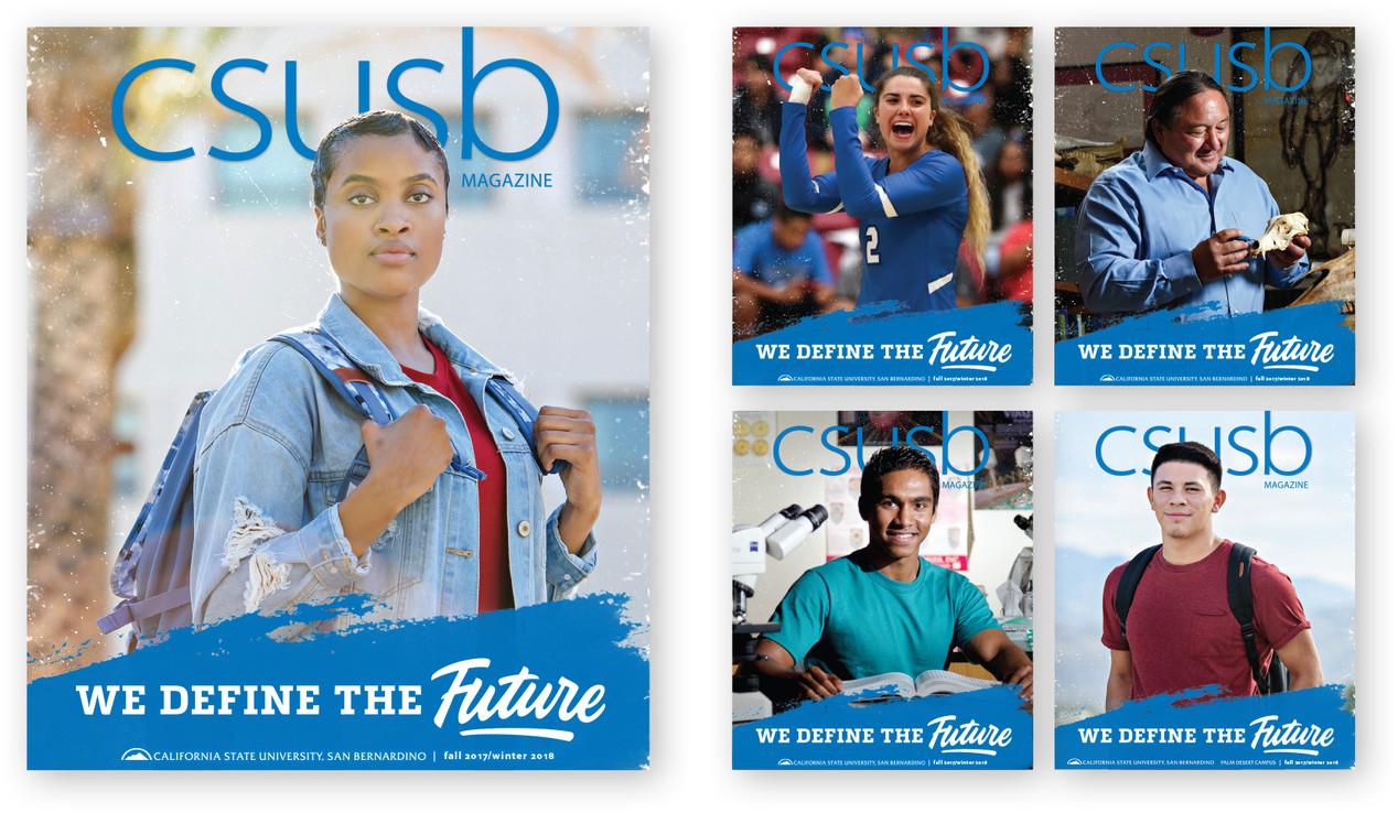 CSUSB Magazine, Fall 2017/Winter 2018 Covers