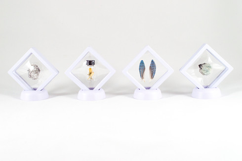 Mercury, 2018. Aluminum, jasmine, jay (feathers), sapphire.