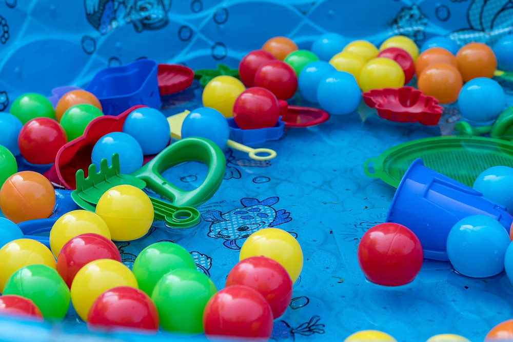 Paddling pool for a family holiday at home