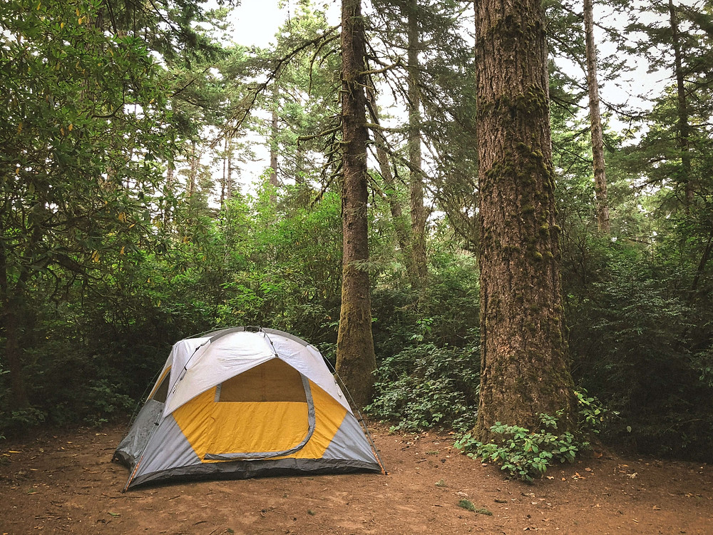 Camping at home on your family holiday