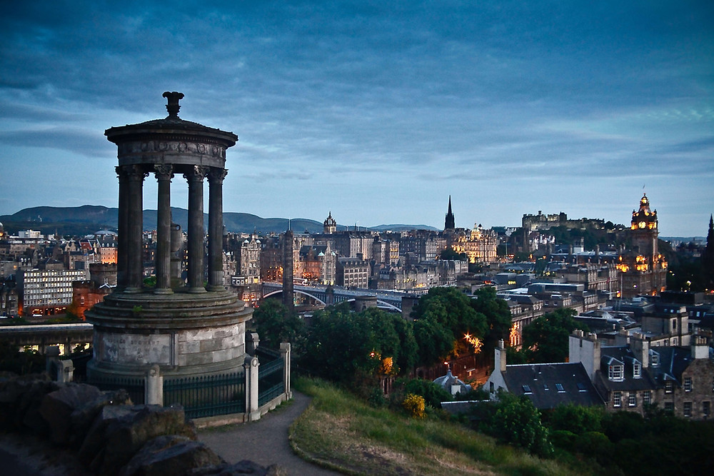 Edinburgh skyline at dusk