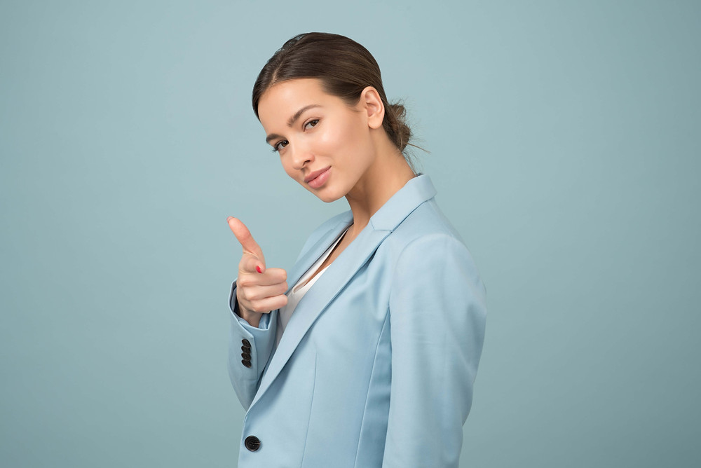 Woman boss with self-confidence