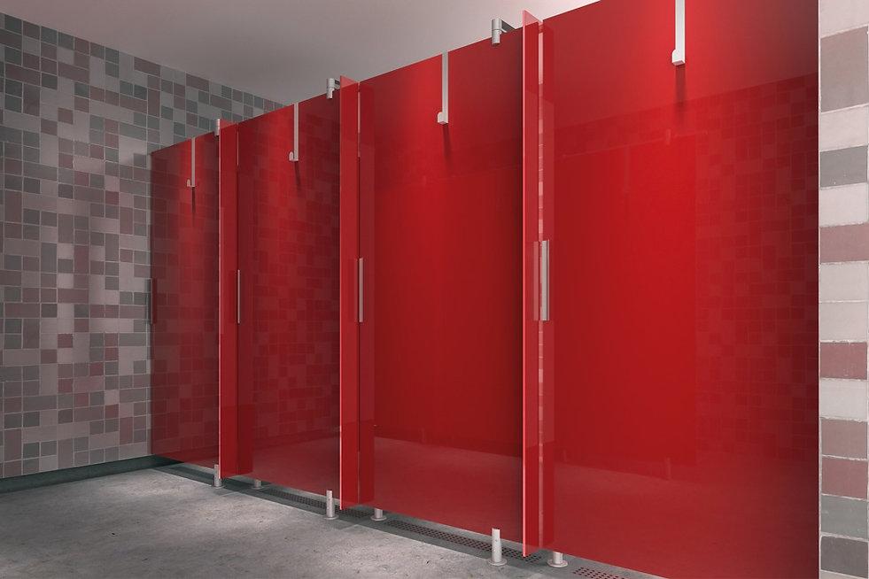 Cabines WC Sanitaires Maroc en bois en verre en mélaminé en stratifié en mdf haut d gamme