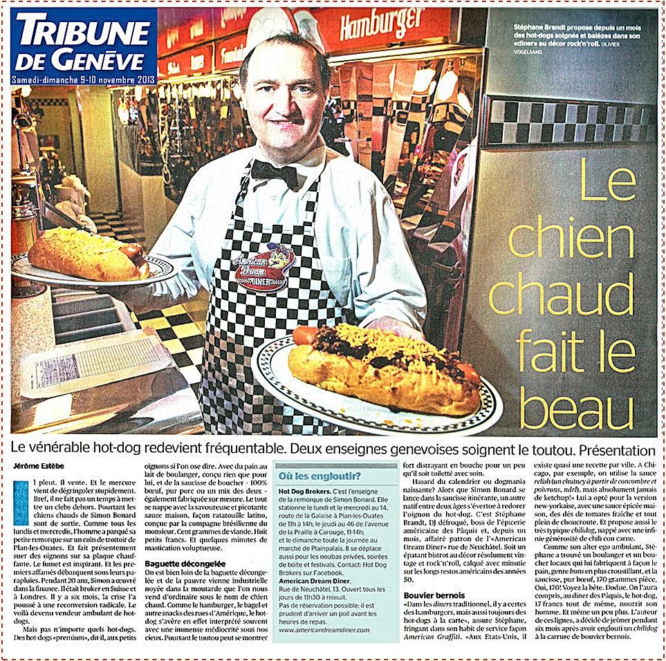 Tribune d Genève Hot dog Le chien chaud fait le beau