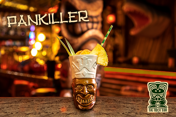 Cocktails Painkiller au Tiki Rock Bar