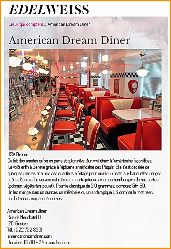 Edelweiss American Dream Diner
