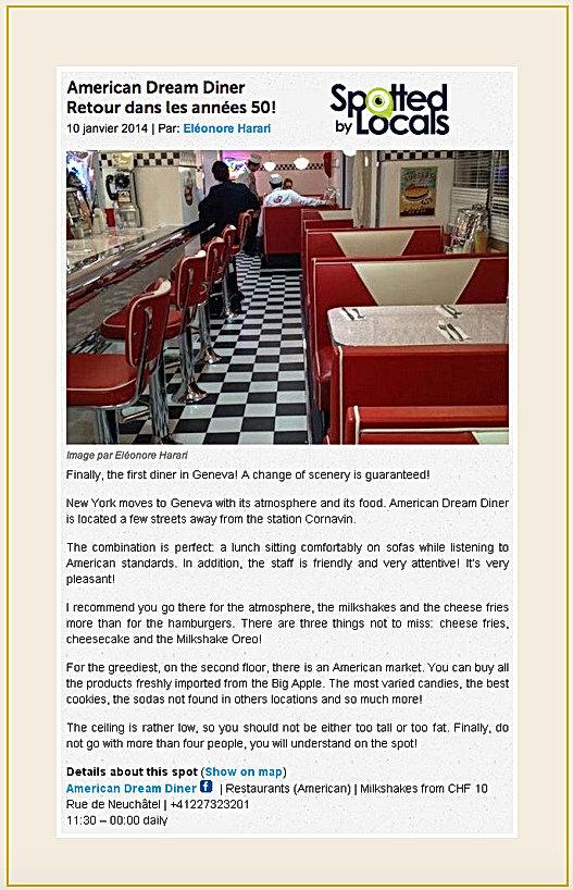 Spotted by Local American Dream Diner retour dans les année 50  !