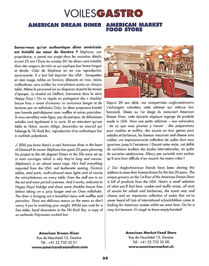 Voiles Gastro American dream - American market