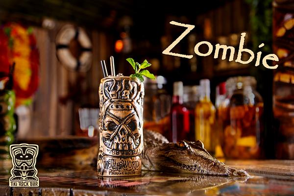 Cocktails Zombie au Tiki Rock Bar