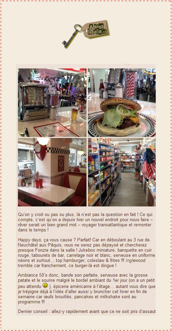 A nous la ville American Dream Diner