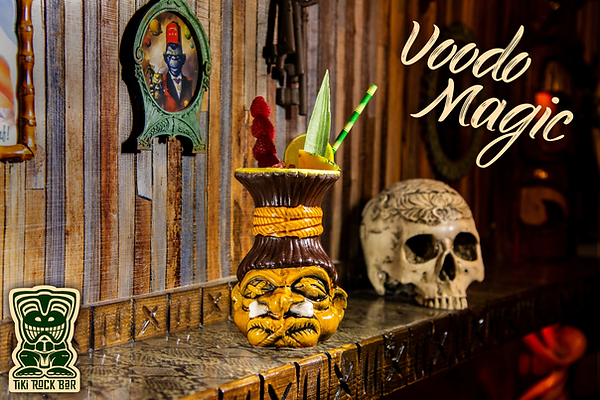 Cocktails Voodoo Magic au Tiki Rock Bar