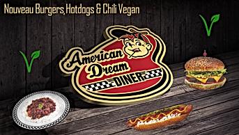 Grand choix de produits Vegane à l'American Dream Diner
