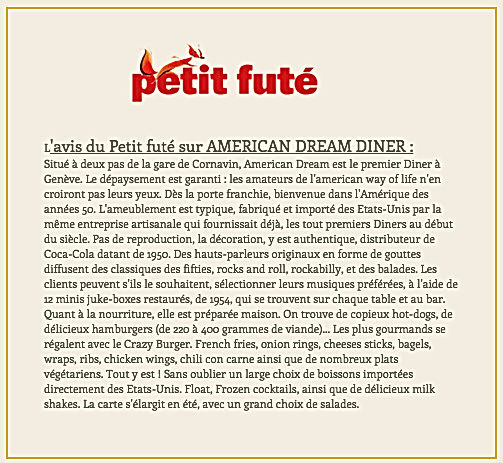 Petit futé American Dream Diner