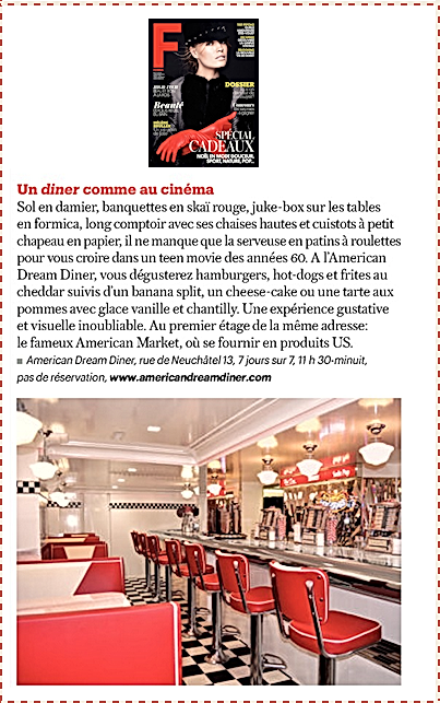 American dream Diner Femina Un Diner Comme au Cinéma