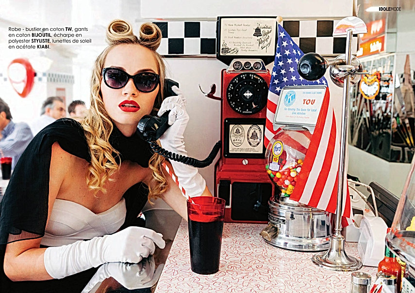 Shooting photos à l'American Dream Diner - Photographe : Nicolas Stajic, Modèle : Léane Arrigo