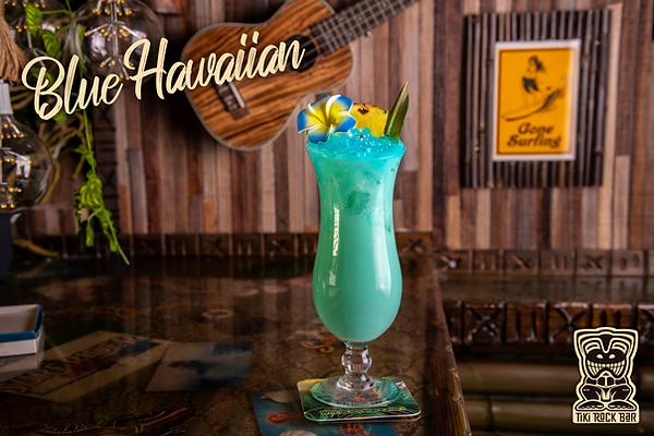 Cocktails Blue Hawaian Tiki Rock Bar