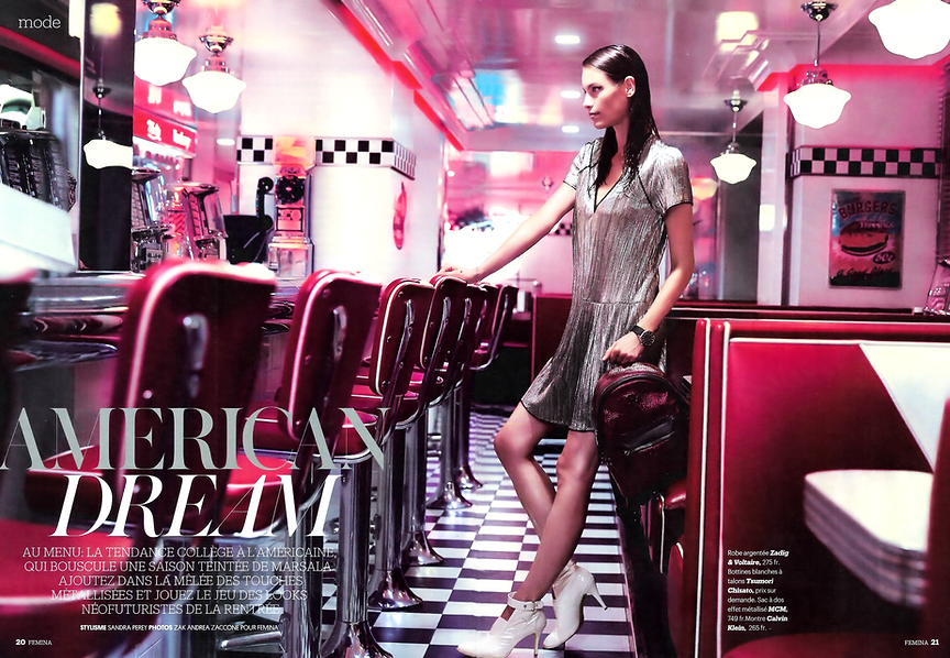 Shooting Femina à l'American Dream Diner