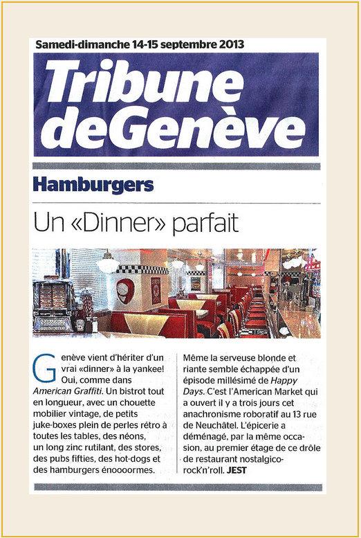 Tribune de Genève Hamburgers UnDinner parfait American Dream Diner