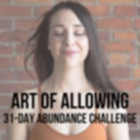 art of allowing 31-day abundance challen