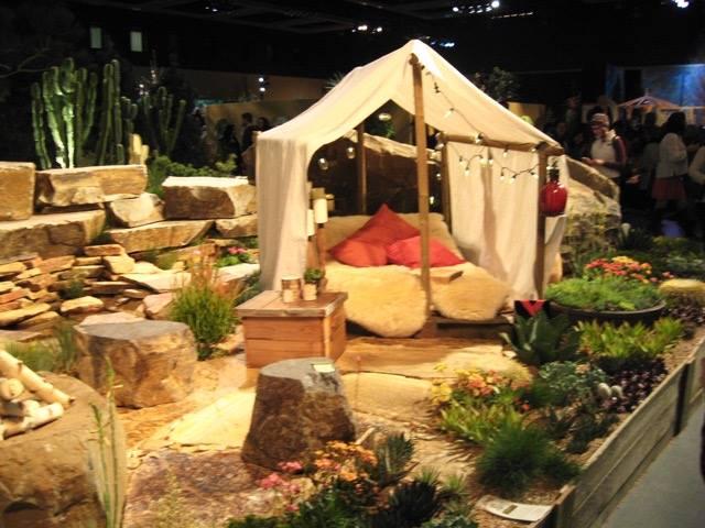 Garden show tent