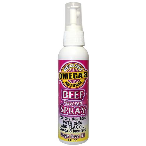 Beef Flavor Dog Food Topper 4 Oz Flavored Sprays