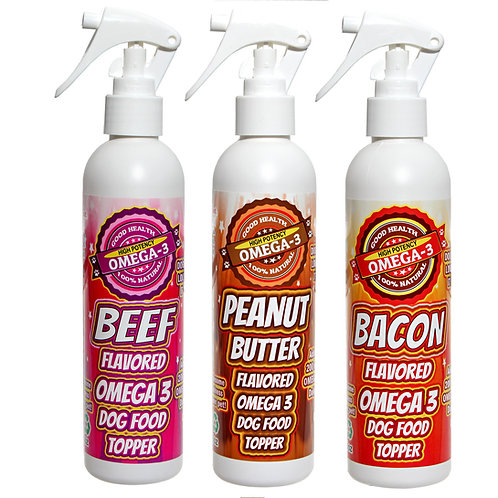 3 - 8 oz Bottle Combo Deal Beef PB Bacon
